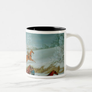 Mail Coach in the Snow Two-Tone Coffee Mug
