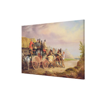 Mail Coaches on the Road: The 'Quicksilver' Devonp Canvas Print