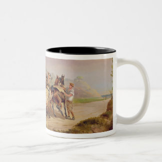 Mail Coaches on the Road: The 'Quicksilver' Devonp Two-Tone Coffee Mug