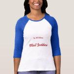 Mail Goddess Baseball T-Shirt Medium