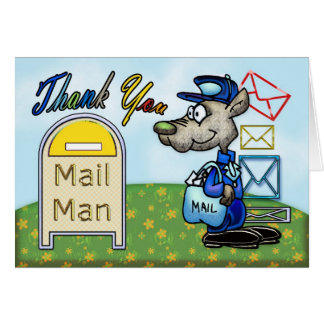 Mail Man, Postal appreciation thank you card