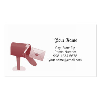 Mail Me a Love Letter Business Card