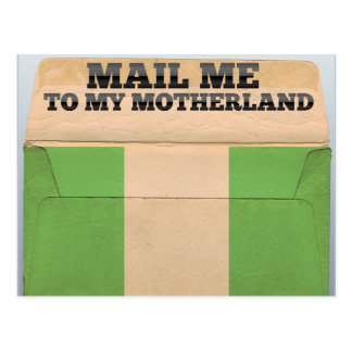 Mail me to Nigeria Postcard