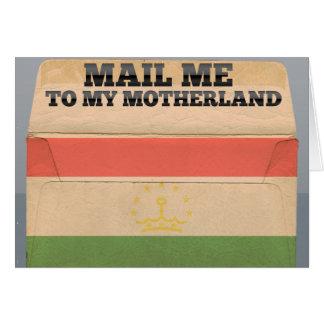 Mail me to Tajikistan Greeting Cards