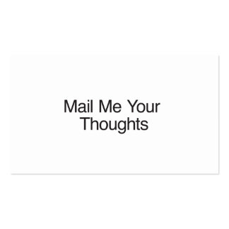 Mail Me Your Thoughts Business Card Templates