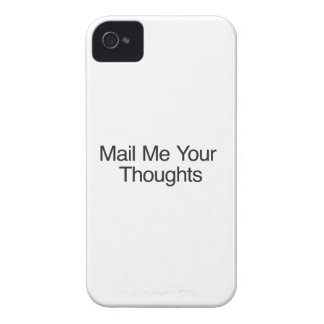 Mail Me Your Thoughts iPhone 4 Case