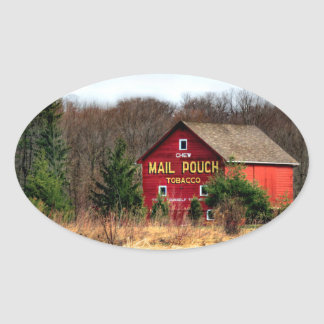 Mail Pouch Barn Oval Sticker