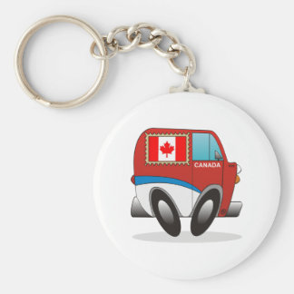Mail Truck Canada Basic Round Button Key Ring