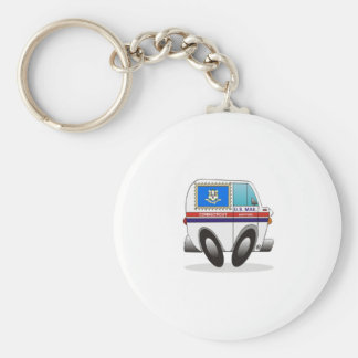 Mail Truck CONNECTICUT Key Ring