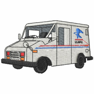 Mail Truck Embroidered Hoodie