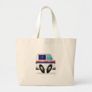 Mail Truck INDIANA Large Tote Bag