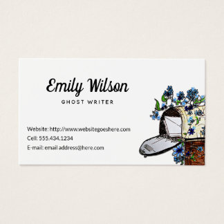 Mailbox Art Custom White Business Cards