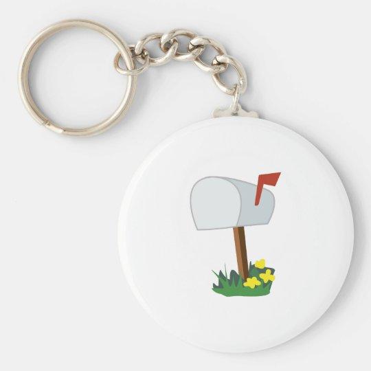 Mailbox Basic Round Button Key Ring