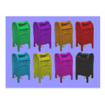 Mailbox POPART Gifts for Postal Workers Postcard