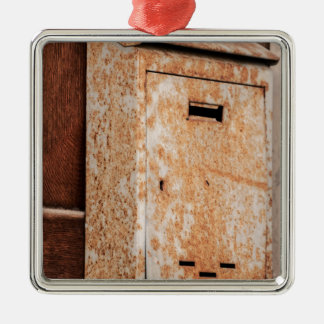 Mailbox rusty outdoors Silver-Colored square decoration