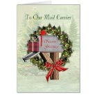 Mailbox Season's Greetings To the Mail Carrier Card