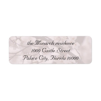 Mailing Label for Cherry blossom Theme Return Address Label