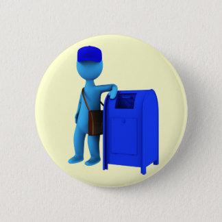 Mailman 6 Cm Round Badge