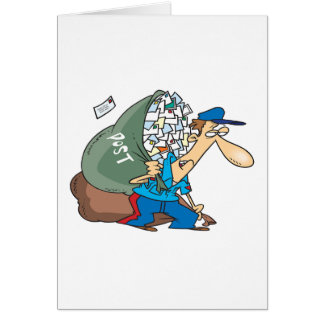 Mailman Carrying A Large Sack Greeting Card