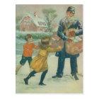 Mailman & Children Postcard