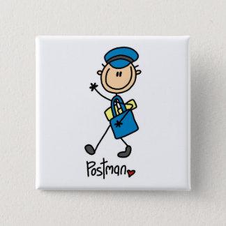 Mailman Gift 15 Cm Square Badge