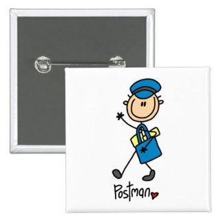 Mailman Gift 15 Cm Square Badge