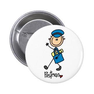 Mailman Gift 6 Cm Round Badge