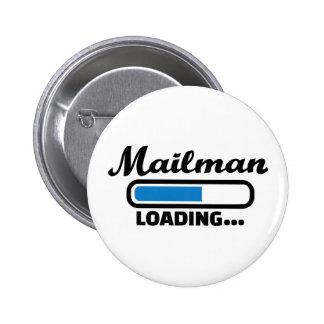Mailman loading 6 cm round badge