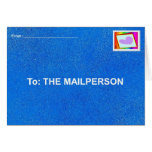 Mailperson Card1 Greeting Card