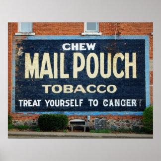 Mailpouch Tobacco humor Poster