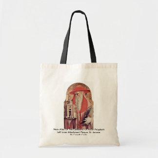 Main Altar Of The Cathedral Of Ascoli Polyptych Canvas Bag