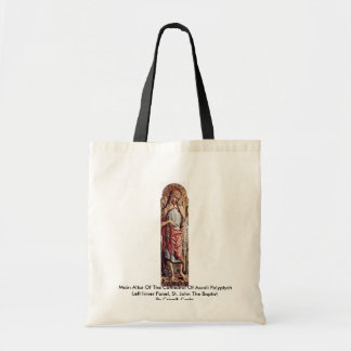 Main Altar Of The Cathedral Of Ascoli Polyptych Budget Tote Bag