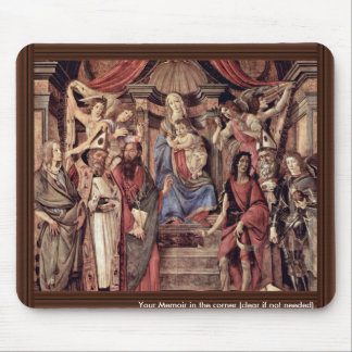Main Altarpiece Plate: Enthroned Madonna Four Mouse Pad