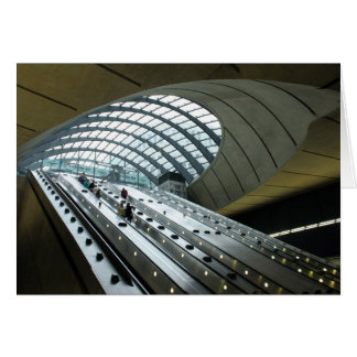 Main Entrance to Canary Wharf Station Greeting Card