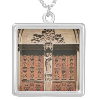Main Portal of the Saint-Sauveur Cathedral Silver Plated Necklace