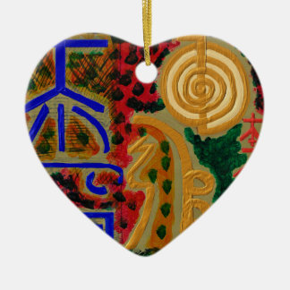 Main ReikiHealingArt Symbol Ceramic Heart Decoration