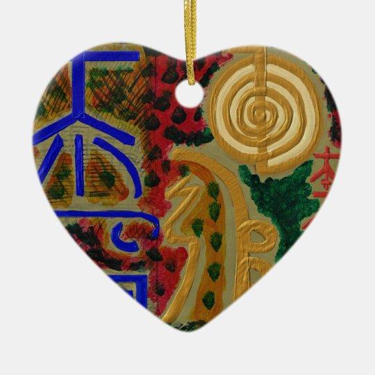 Main ReikiHealingArt Symbol Christmas Ornament