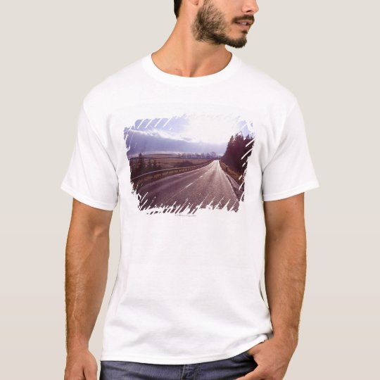 Main road with low winter sun. T-Shirt