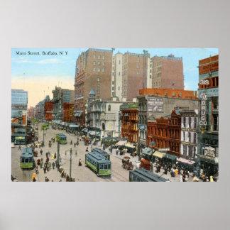 Main St., Buffalo 1913 Vintage Posters