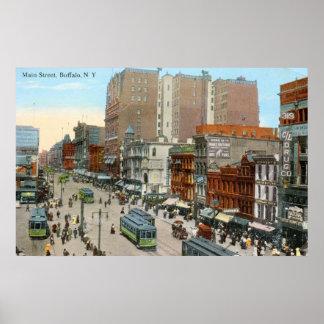 Main St., Buffalo 1913 Vintage Poster