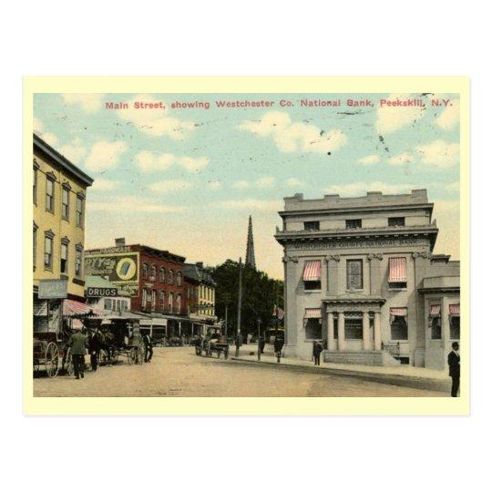 Main St., Peekskill, New York Vintage Postcard
