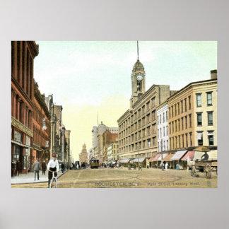 Main St., Rochester, New York Vintage Poster