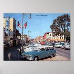 Main St., Somerville, New Jersey Vintage Poster