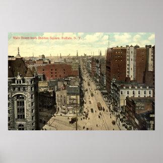 Main Street, Buffalo NY 1912 Vintage Poster