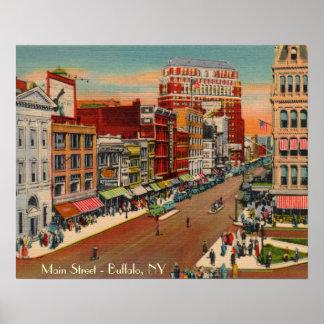 Main Street - Buffalo, NY Vintage Poster