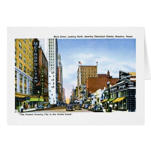 main street houston texas greeting cards zazzlecouk - Texas Christmas Cards