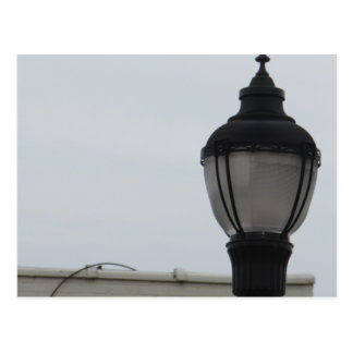 Main Street Lamp Post Postcard