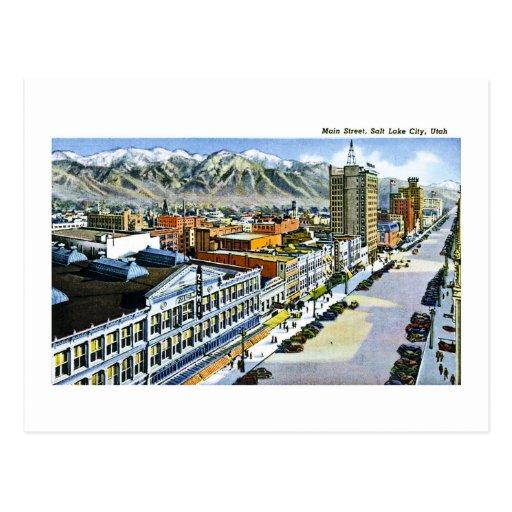 Main Street, Salt Lake City, Utah Postcard