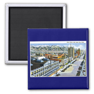 Main Street, Salt Lake City, Utah Square Magnet
