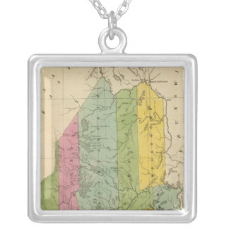 Maine 12 silver plated necklace